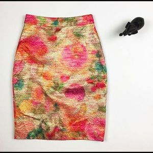 Kate Spade multicolored skirt in size 0.